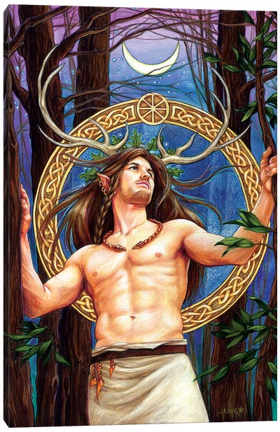 Cernunnos Canvas Art Print