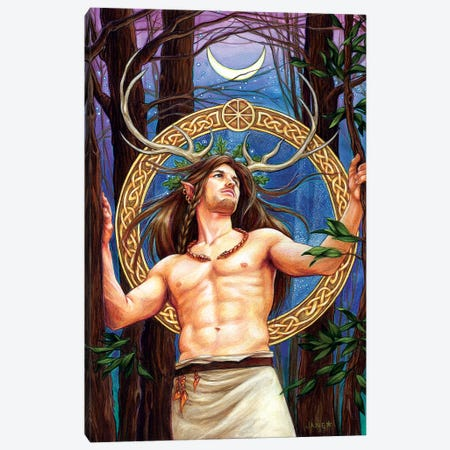 Cernunnos Canvas Print #JNW12} by Jane Starr Weils Canvas Print