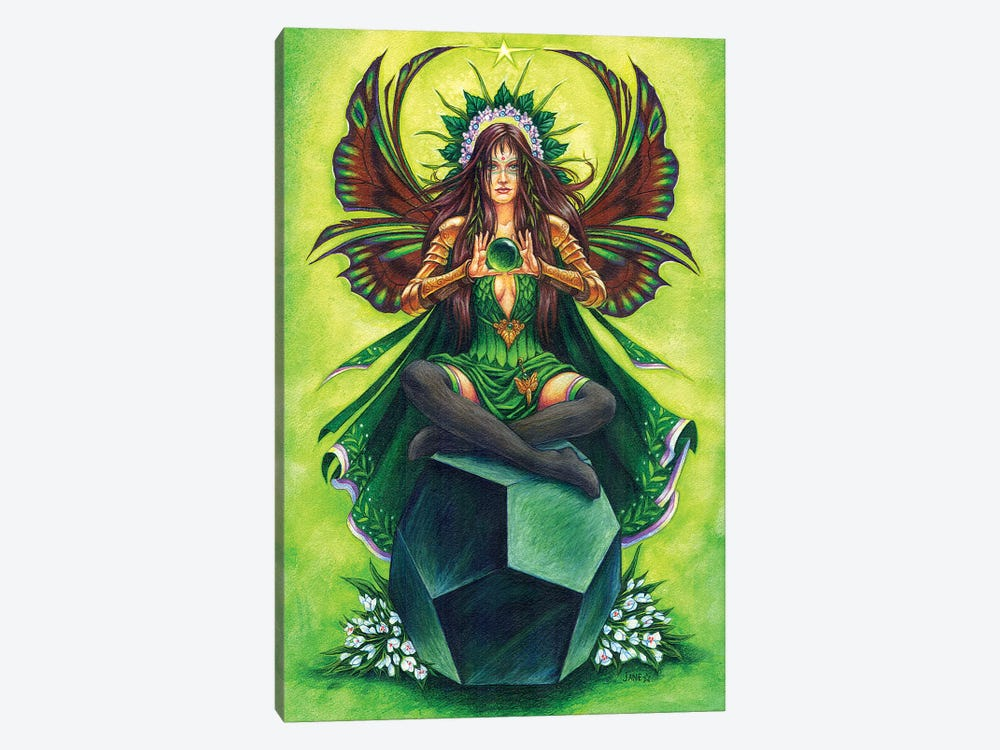 Emerald Fairy Stone Keeper by Jane Starr Weils 1-piece Canvas Artwork