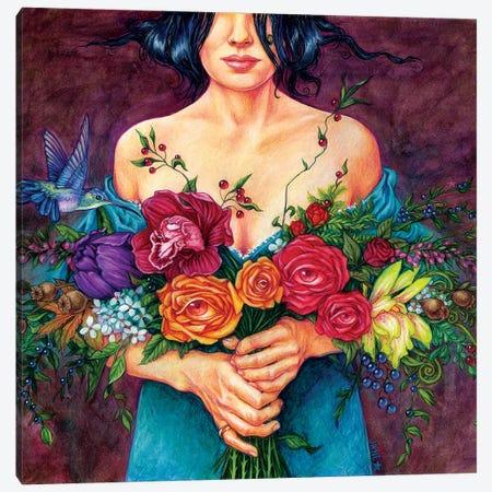 Flower Kisser Canvas Print #JNW26} by Jane Starr Weils Canvas Print