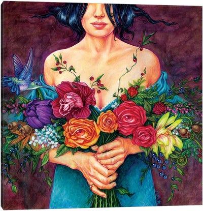 Flower Kisser Canvas Art Print