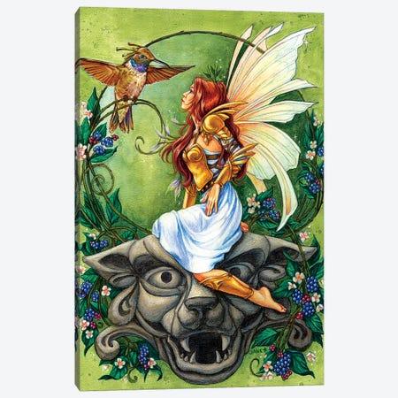 Golden Hummingbird Clan Canvas Print #JNW27} by Jane Starr Weils Canvas Print