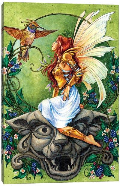 Golden Hummingbird Clan Canvas Art Print