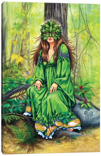 Green Lady Canvas Art Print