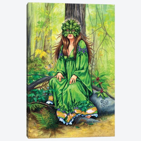 Green Lady Canvas Print #JNW28} by Jane Starr Weils Canvas Art