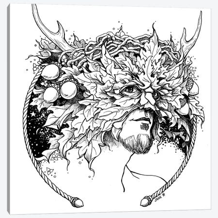 Greenman Canvas Print #JNW30} by Jane Starr Weils Canvas Print