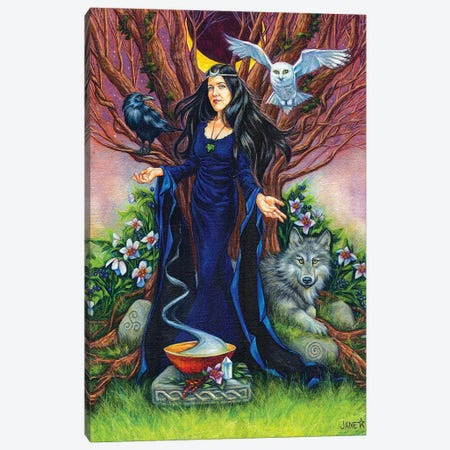 High Priestess Canvas Print #JNW33} by Jane Starr Weils Art Print