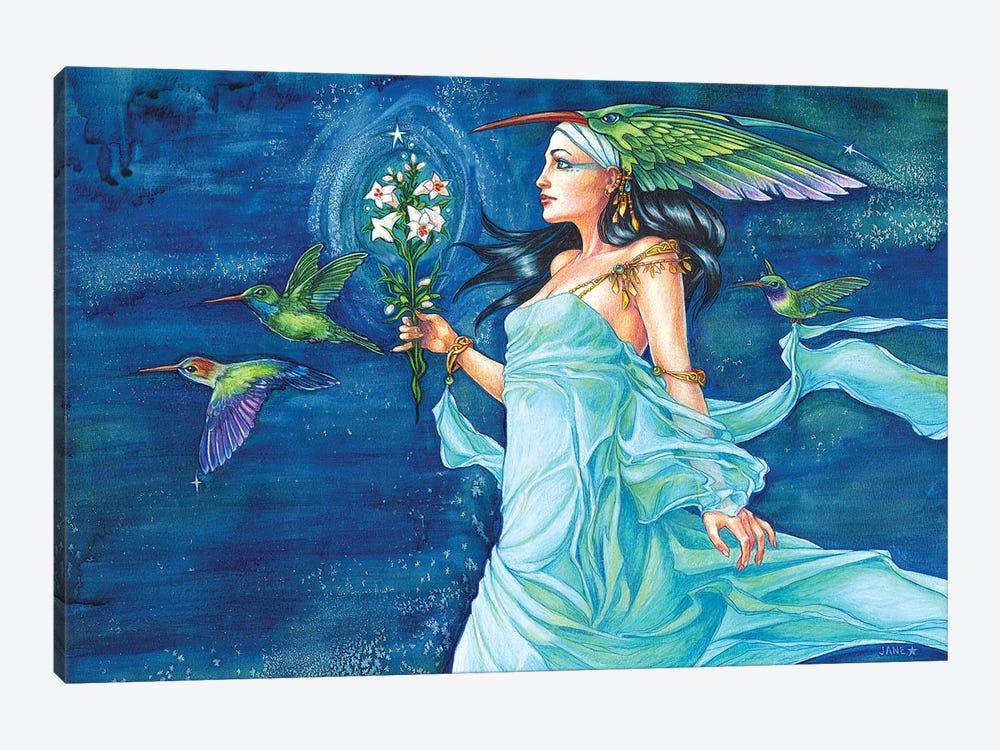 Hummingbird Queen by Jane Starr Weils 1-piece Canvas Print
