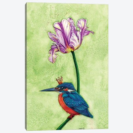 King Fisher Canvas Print #JNW37} by Jane Starr Weils Canvas Wall Art