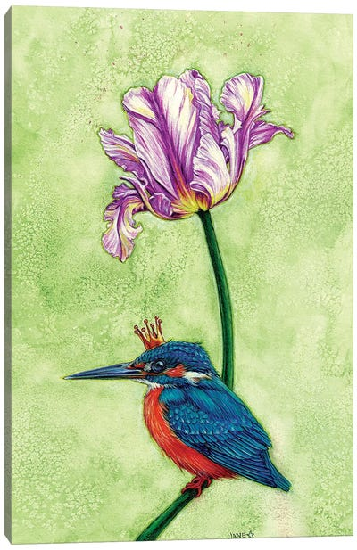King Fisher Canvas Art Print