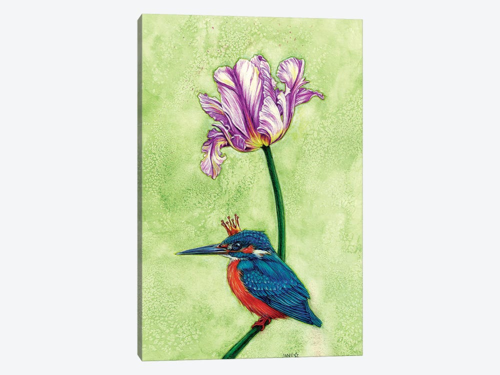King Fisher by Jane Starr Weils 1-piece Canvas Wall Art