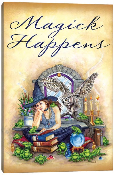 Magick Happens Canvas Art Print