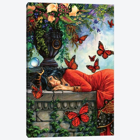 Monarch Butterfly Queen Canvas Print #JNW41} by Jane Starr Weils Canvas Wall Art