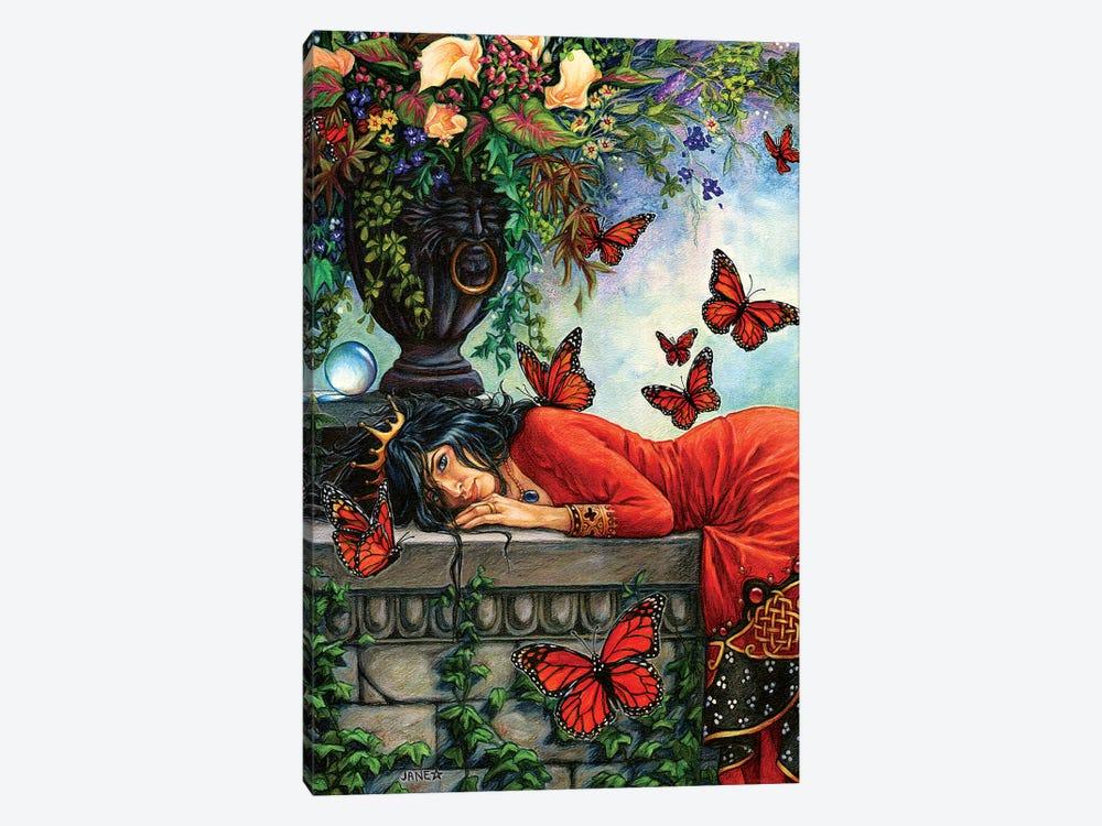 Monarch Butterfly Queen by Jane Starr Weils 1-piece Art Print