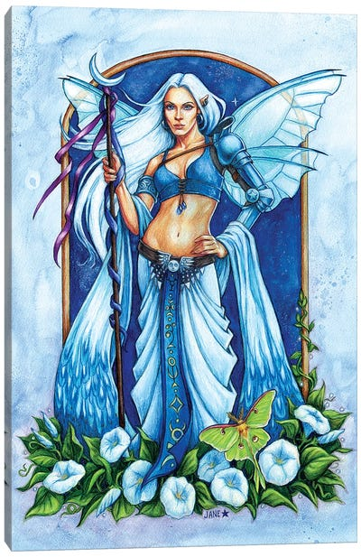 Moon Flower Fairy Canvas Art Print