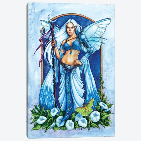 Moon Flower Fairy Canvas Print #JNW42} by Jane Starr Weils Canvas Artwork