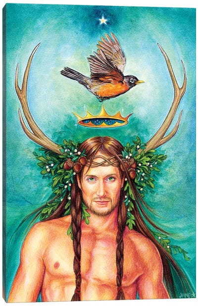 Oak King Canvas Art Print