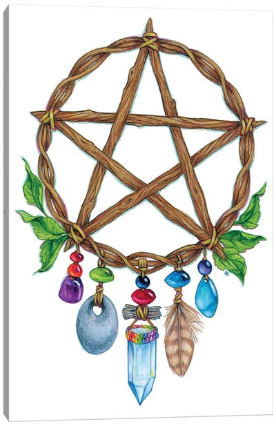 Pentacle Charm Canvas Art Print