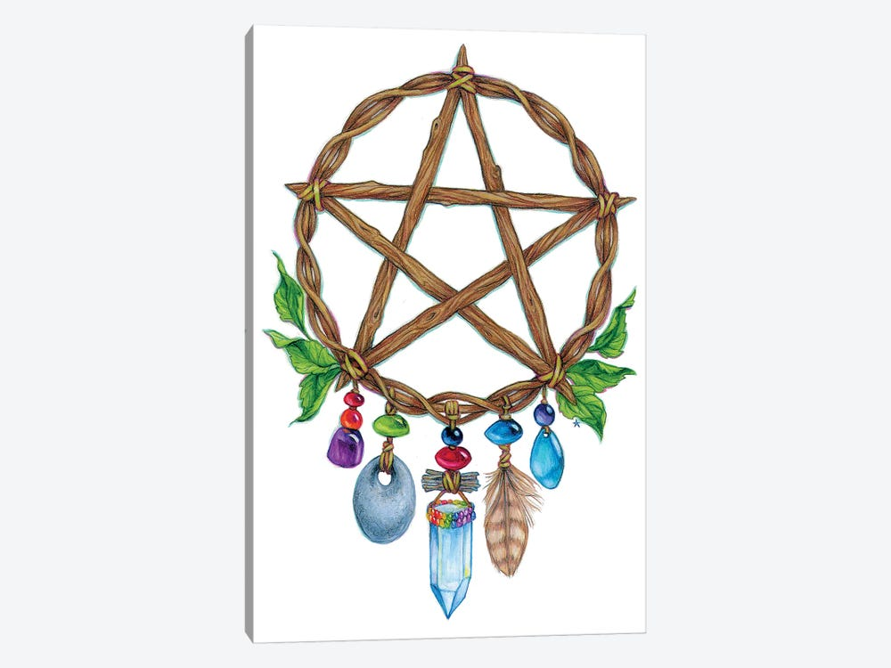 Pentacle Charm by Jane Starr Weils 1-piece Canvas Art Print