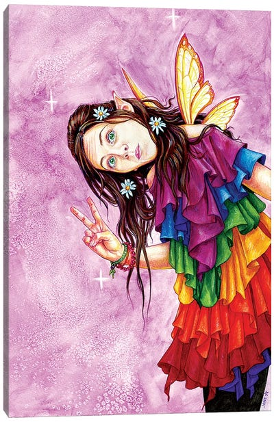 Rainbow Peace Faerie Canvas Art Print