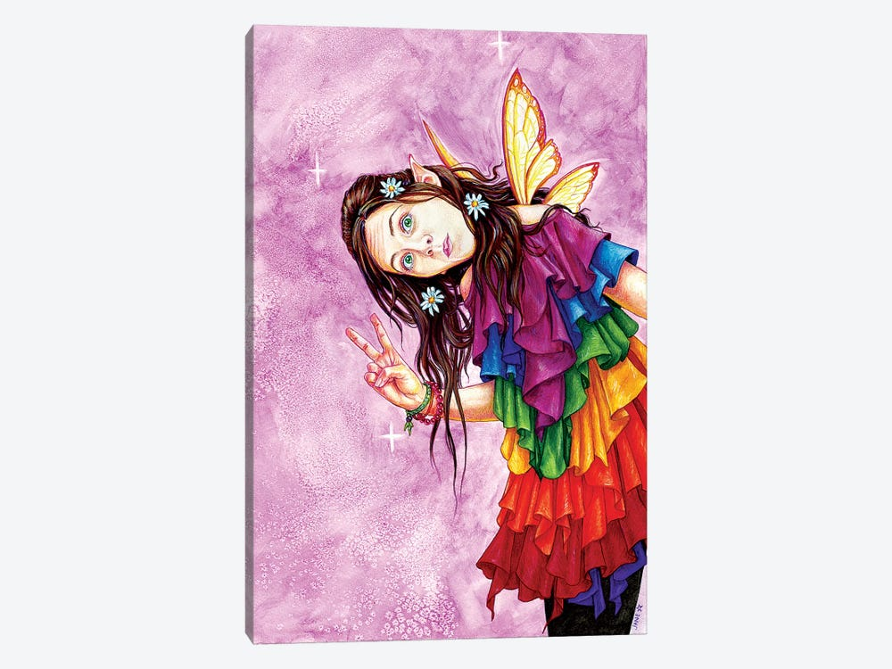 Rainbow Peace Faerie by Jane Starr Weils 1-piece Art Print