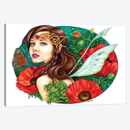 Red Poppies 3-Piece Canvas #JNW52} by Jane Starr Weils Canvas Art Print