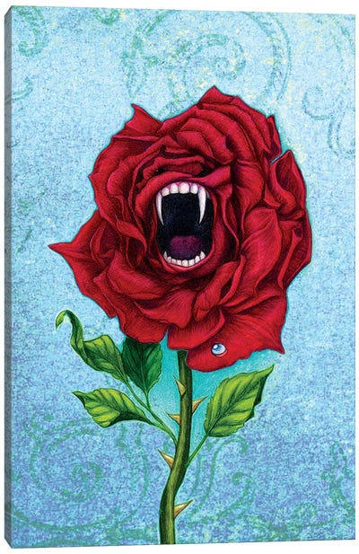 Rose With Bite Canvas Art Print