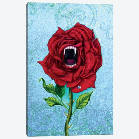 Rose With Bite Canvas Print #JNW53} by Jane Starr Weils Canvas Print