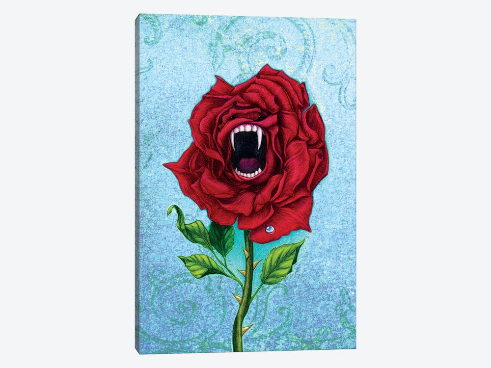 Rose With Bite 1-piece Canvas Artwork