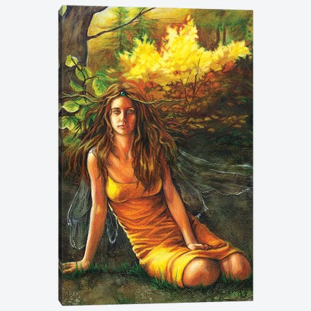 Autumn Faerie Canvas Print #JNW5} by Jane Starr Weils Canvas Wall Art