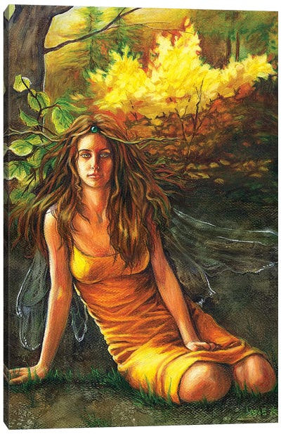 Autumn Faerie Canvas Art Print