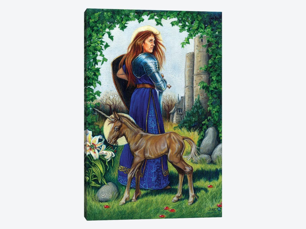 Unicorn Guardian by Jane Starr Weils 1-piece Art Print