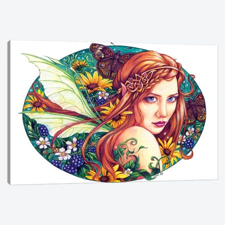 Wilde Wood Faerie Canvas Print #JNW63} by Jane Starr Weils Canvas Wall Art
