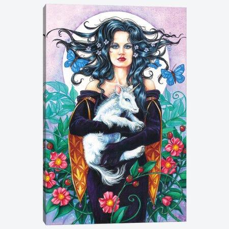Baby Unicorn Canvas Print #JNW8} by Jane Starr Weils Canvas Print