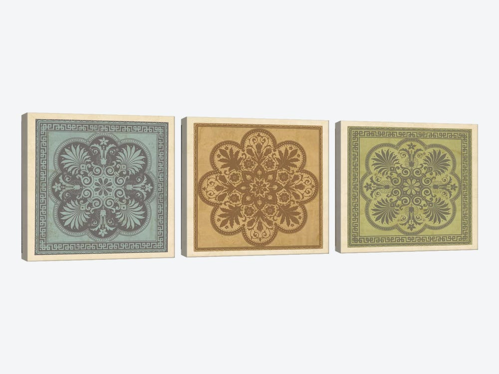 Classical Tiles I by Jenny Oliver 3-piece Art Print