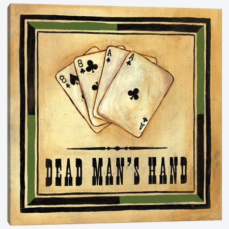 Dead Man's Hand Canvas Print #JOA3} by Jocelyne Anderson Canvas Print