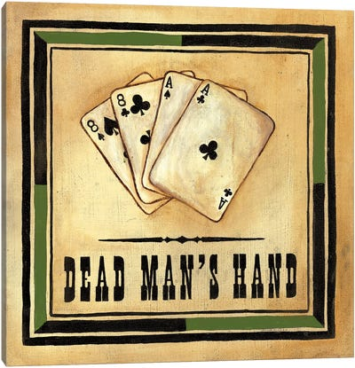 Dead Man's Hand Canvas Art Print