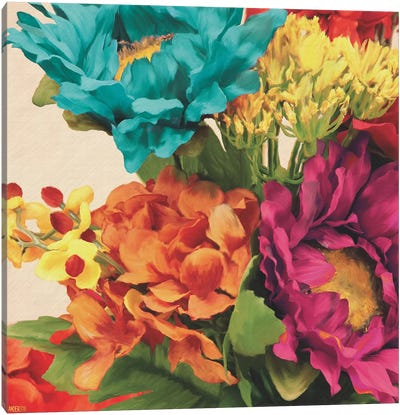 Pop Art Flowers I Canvas Art Print
