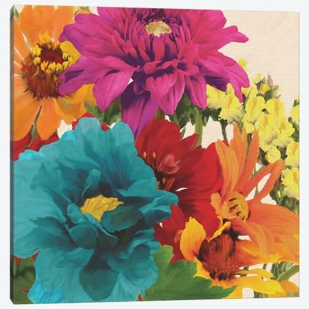 Pop Art Flowers II Canvas Print #JOA5} by Jocelyne Anderson Canvas Wall Art