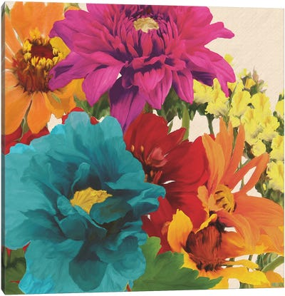Pop Art Flowers II Canvas Art Print