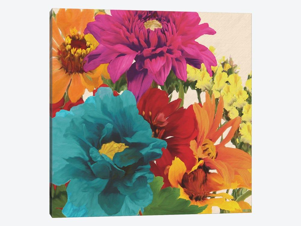 Pop Art Flowers II by Jocelyne Anderson 1-piece Canvas Artwork