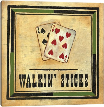 Walkin' Sticks Canvas Art Print