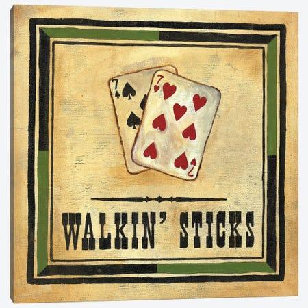 Walkin' Sticks Canvas Print #JOA6} by Jocelyne Anderson Canvas Artwork