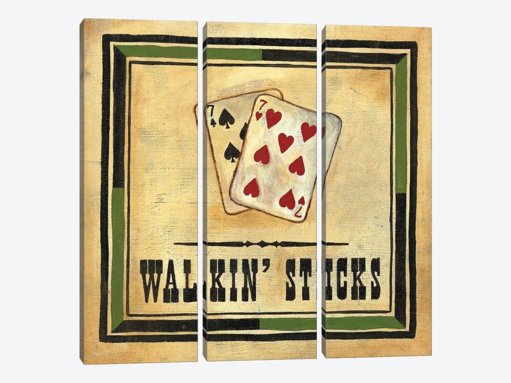 Walkin' Sticks by Jocelyne Anderson 3-piece Canvas Art Print