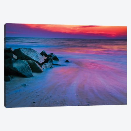 Colorful Sunset, Delaware Bay, Cape May, New Jersey, USA Canvas Print #JOB2} by Jay O'Brien Canvas Art