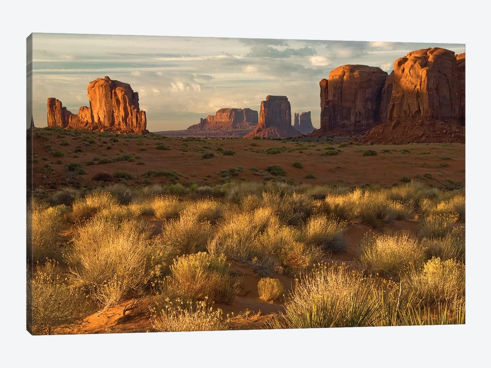 Sunrise, Monument Valley, Navajo Nation, USA by Jay O'Brien 1-piece Canvas Art Print