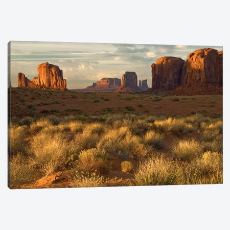 Sunrise, Monument Valley, Navajo Nation, USA Canvas Print #JOB3} by Jay O'Brien Canvas Wall Art