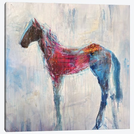 My Little Blue Canvas Print #JOD17} by Jodi Maas Canvas Art