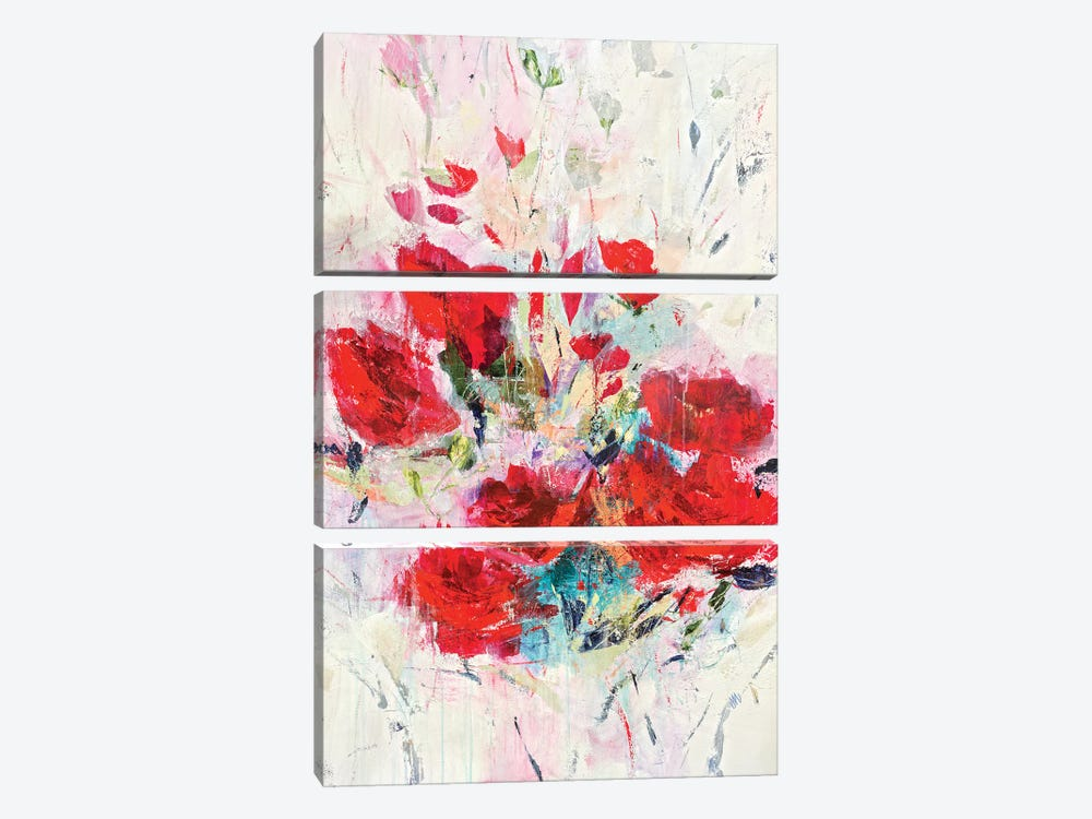 Lucious Reds by Jodi Maas 3-piece Canvas Print