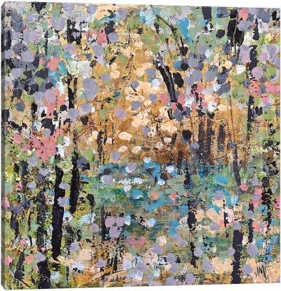 Floral Mist Path Canvas Art Print